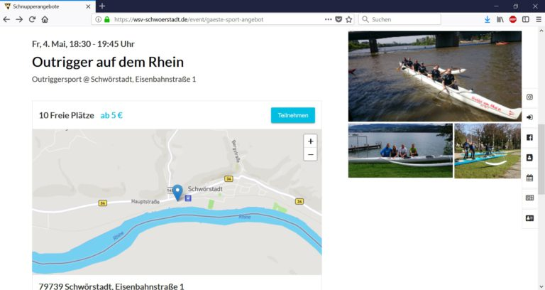 Der WSV Schwörstadt bietet eine einfache Online-Buchung für seine Kurse an