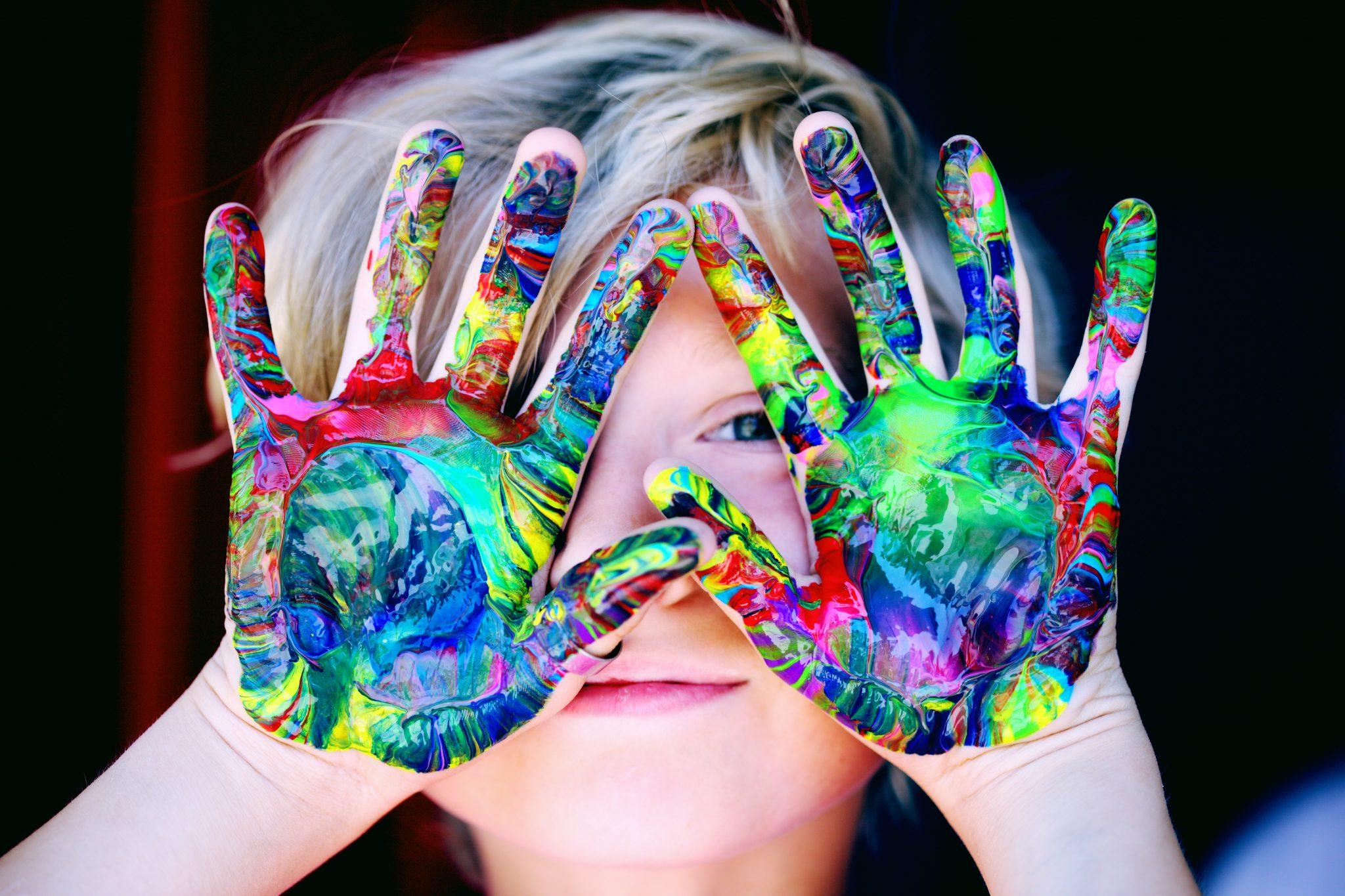 Hände, Farbe, Mädchen, Checkliste, Freizeit, Malen, Basteln