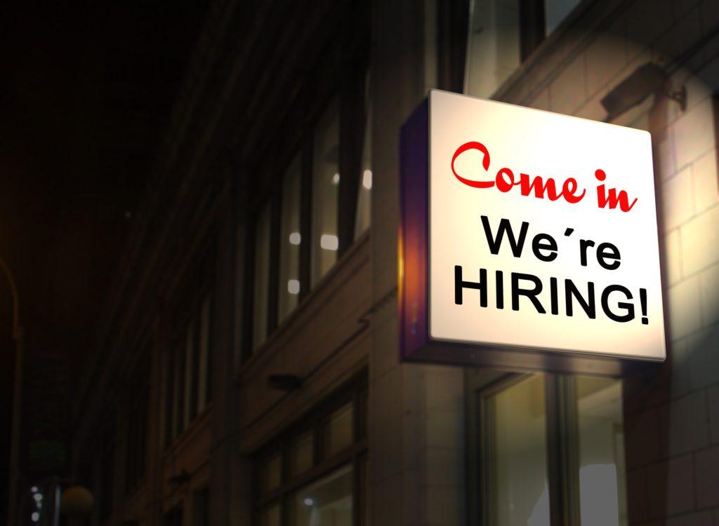 Schild, Bewerbung, Jobangebot, Hiring, Einstellen