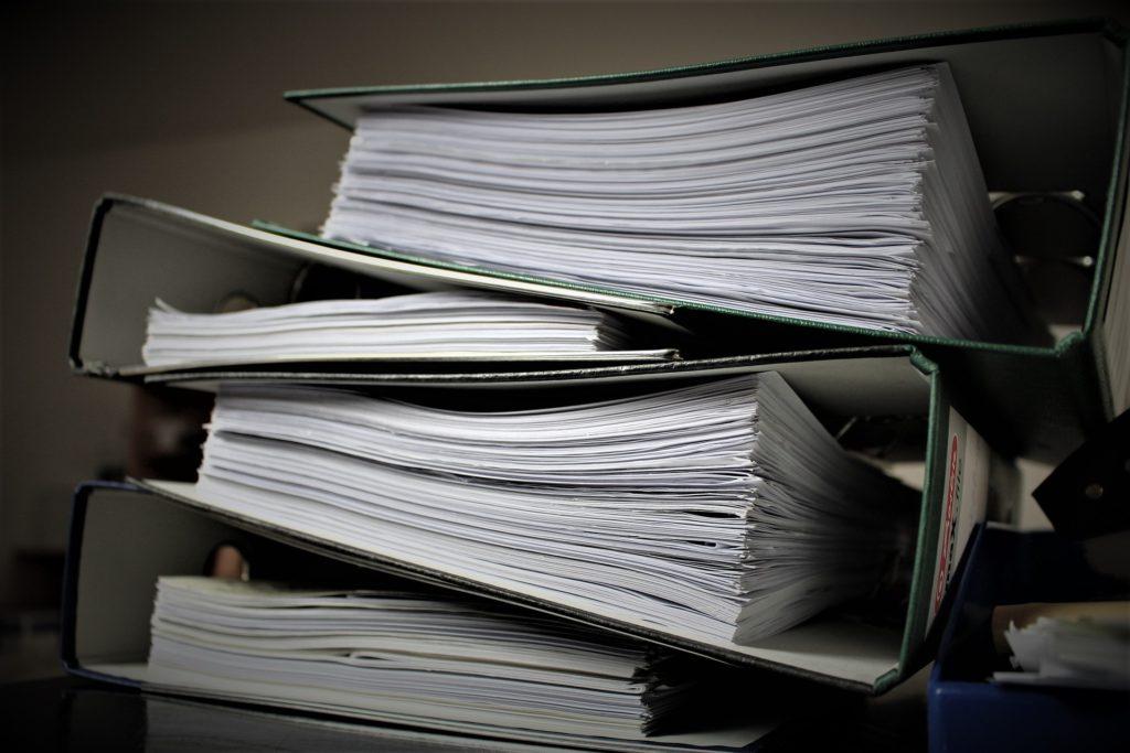 Bürokratie, Verwaltung, Akten, Aktenordner