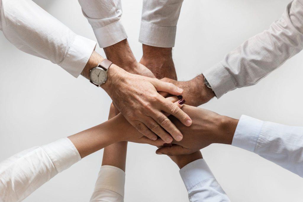 Team, Zusammenhalt, Arme, Kooperation, Familie