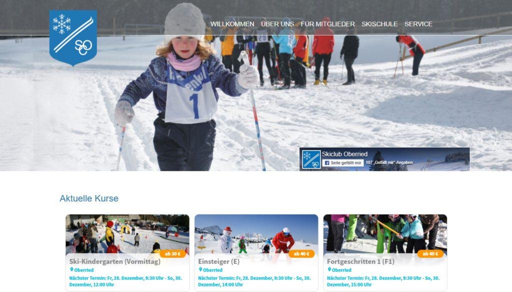 Beispiel Skiclub Oberied