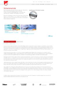 Schwimmangebote direkt auf der Homepage des SV Kirchzarten