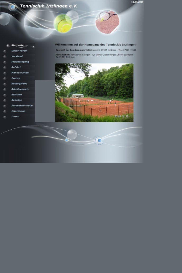 Alte TC Inzlingen Website
