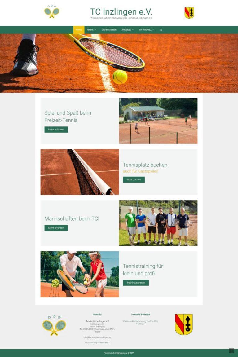 Neue TC Inzlingen Website