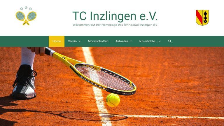 Screenshot TC Inzlingen Webseite - Startseite