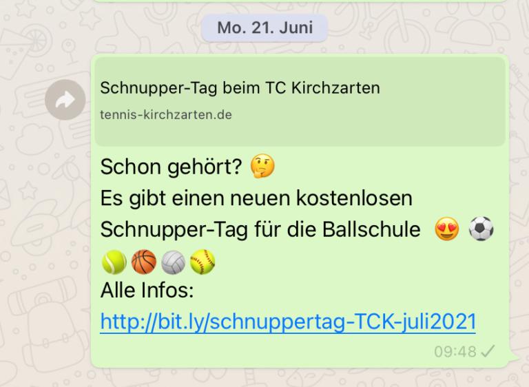 Auch über WhatsApp lässt sich ein Angebot gut bewerben