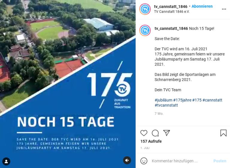 Auch für einen Countdown eignet sich Instagram wunderbar!